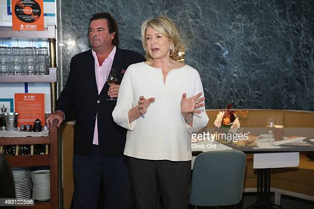Owner of Chateau D'Esclans Sacha Lichine and Martha Stewart speak at the Rose Brunch Hosted By Martha Stewart during Food Network Cooking Channel New...