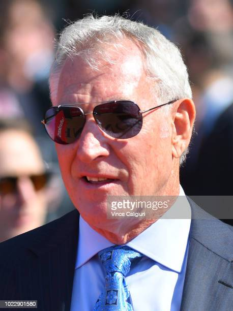 Owner of Chautauqua Rupert Legh is seen during Melbourne Racing at Mooney Valley Racecourse on August 25 2018 in Melbourne Australia