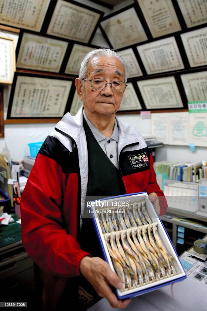 Owner of fishery shop 'Suzuki', Yuzuru Suzuki, younger brother of Nobel Prize laureate Akira Suzuki, poses for photographs a week after the magnitude 6.7 earthquake on September 13, 2018 in Mukawa, Hokkaido, Japan. Concerns are rising about the health of the evacuees because prolonged life in shelters can pose serious risks. Living away from home and together with strangers puts enormous mental and physical strains on evacuees.