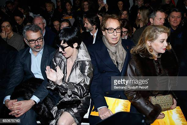 Owner of Gaultier Manuel Puig Paz Vega Gilles Dufour and Catherine Deneuve attend the Jean Paul Gaultier Haute Couture Spring Summer 2017 show as...