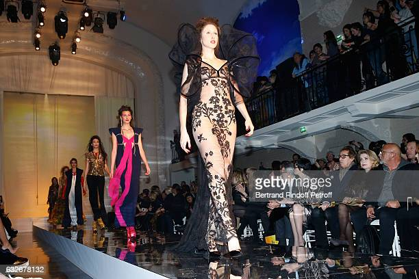 Owner of Gaultier Manuel Puig Paz Vega Gilles Dufour Catherine Deneuve and JeanBaptiste Mondino attend the Jean Paul Gaultier Haute Couture Spring...