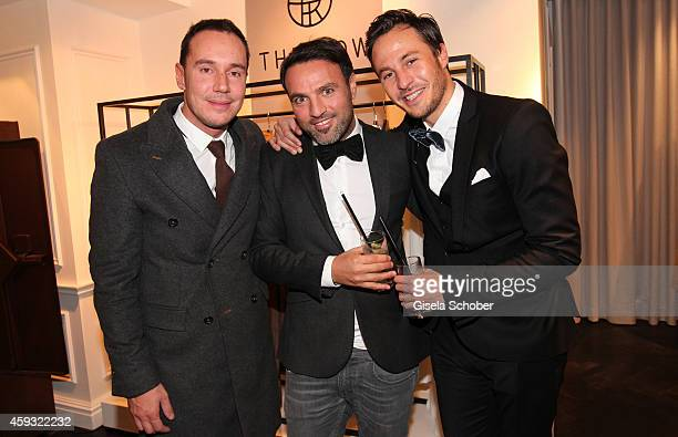 Owner of 'heart' club Daniel Laurent Ayhan Durak and DJ Nikias Hofmann pose during MaryKate Olsen and Ashley Olsen present their collection 'The Row'...