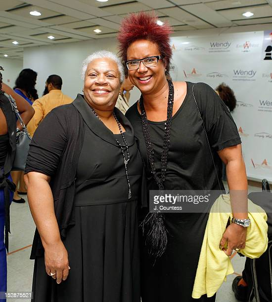 Owner of HueMan Books Marva Allen and Harriet Cole attend the 8th Annual African American Literary Awards at Melba's Harlem on September 27 2012 in...