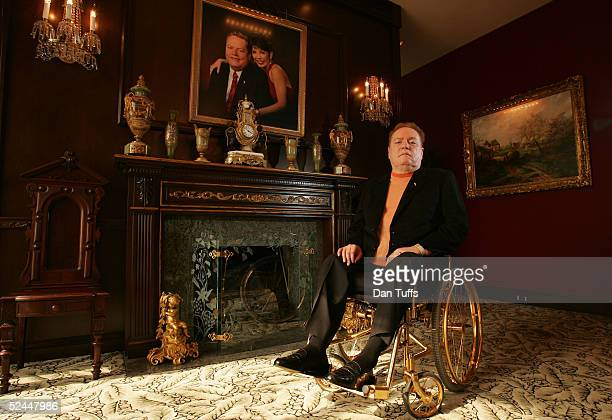 Owner of Hustler publications Larry Flynt in his office in Los Angeles on 29th Oct 2004