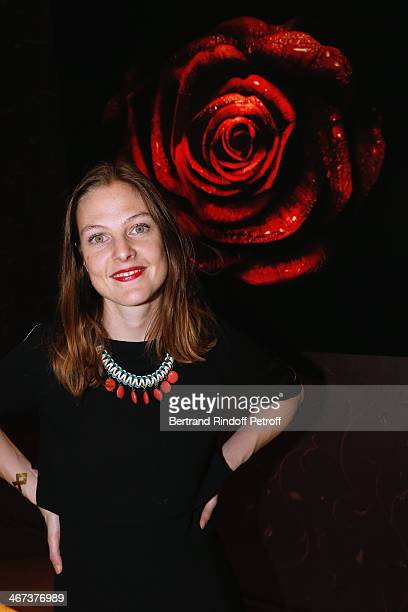 Owner of 'La vitrine AM' Charlotte Ardon attends the Arthur Aubert Exhibition private view Held at Le Fouquet's Barriere Hotel on February 6 2014 in...