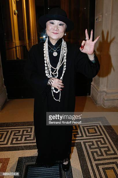 Owner of Lanvin Shaw Lan Wang attends the Jeanne Lanvin Retrospective : Opening Ceremony at Palais Galliera on March 6, 2015 in Paris, France.