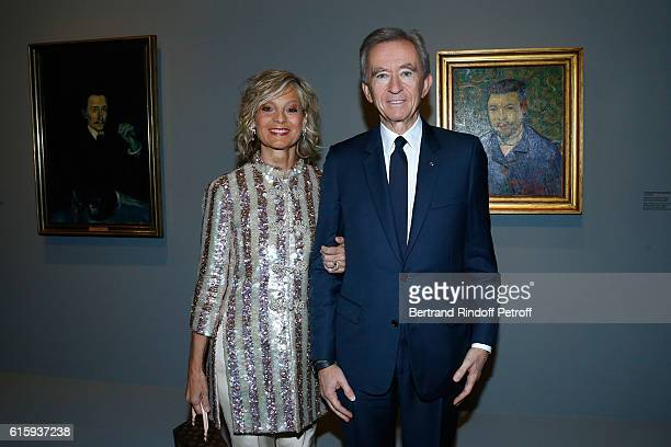 Owner of LVMH Luxury Group Bernard Arnault and his wife Helene Arnault attend the Icones de l'Art Moderne La Collection Chtchoukine Cocktail at...
