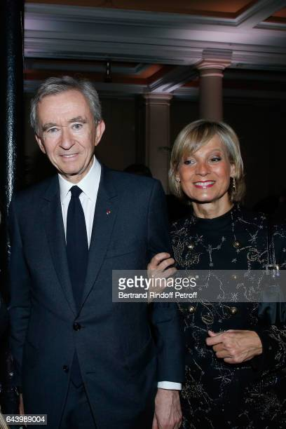 Owner of LVMH Luxury Group Bernard Arnault and his wife pianist Helene Mercier Arnault attend the celebration of the 10th Anniversary of the...