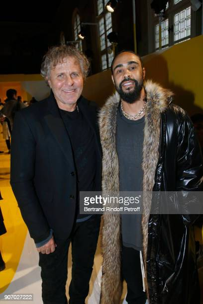 Owner of 'Maison Margiela' Renzo Rosso and Jerry Lorenzo attend the Maison Margiela Menswear Fall/Winter 20182019 show as part of Paris Fashion Week...