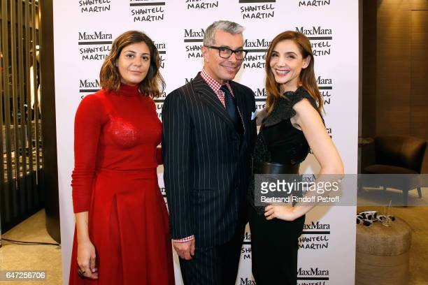 Owner of Max Mara Maria Giulia Maramotti Director of Communication of Max Mara Giorgio Guidotti and Princess of Savoy Clotilde Courau attend the Max...