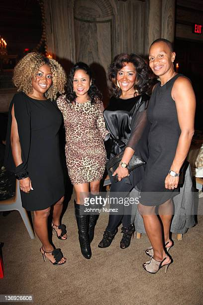 CO owner of Miss Jessie Titi Branch radio personality Angela Yee coowner of Miss Jessie Miko Branch and Jeanine Liburd attend the Target salute to...