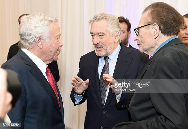 Owner of New England Patriots Robert Kraft actor Robert De Niro and TV personality Larry King attend Friends Of The Israel Defense Forces Western...