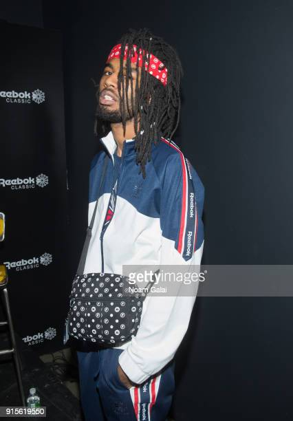 Owner of Original Fani Designs Khalfani Dennis attend Reebok's 'Breaking Classic' at Classic Car Club on February 7 2018 in New York City