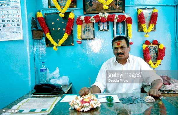 Owner of Original Ghee Halwa Shop at Thiruvaiyaru near Thanjavur, Tamil Nadu, India