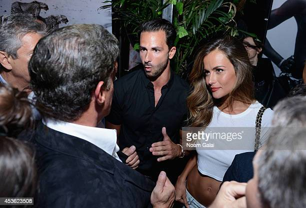 Owner of Provocateur Michael Satsky and model Natalia Borges attend DuJour Magazine's Jason Binn celebrating Sly Stallone's cover with Michael Satsky...