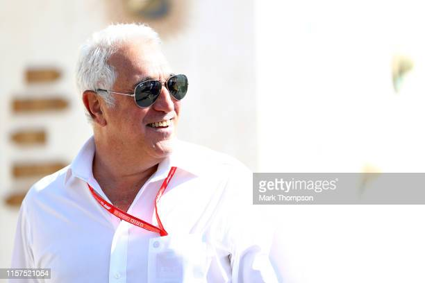 Owner of Racing Point Lawrence Stroll walks in the Paddock before final practice for the F1 Grand Prix of France at Circuit Paul Ricard on June 22...