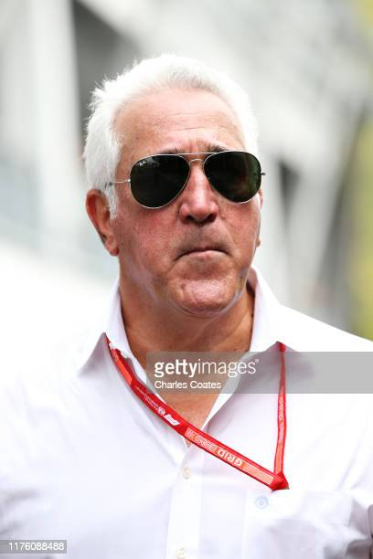 Owner of Racing Point Lawrence Stroll walks in the Paddock before final practice for the F1 Grand Prix of Singapore at Marina Bay Street Circuit on...