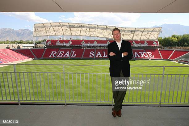 Owner of Real Salt Lake Dave Checketts visits the Rio Tinto Stadium September 30 2008 in Sandy Utah