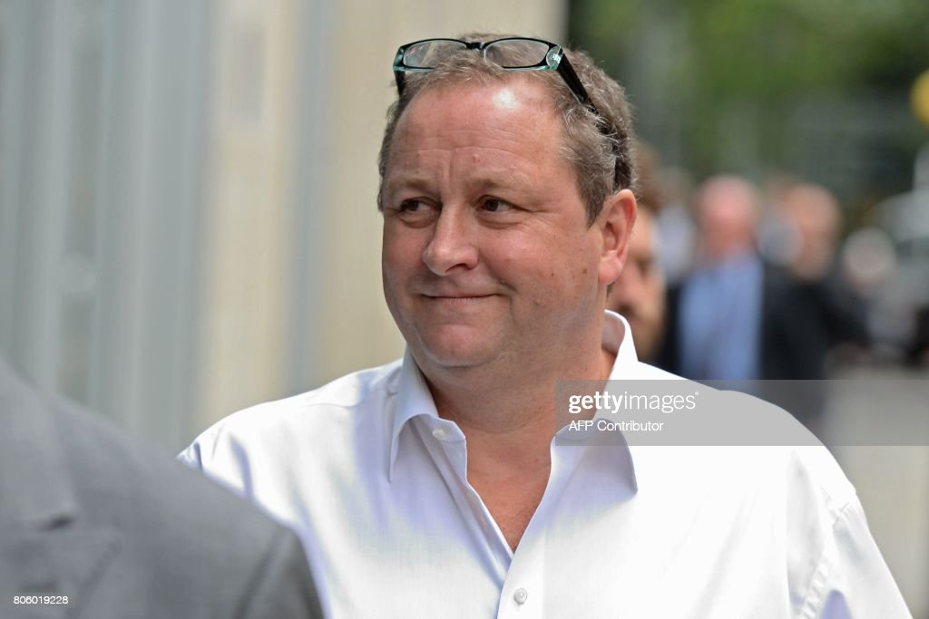 Owner of Sports Direct and Newcastle United, Mike Ashley arrives at the High Court in central London