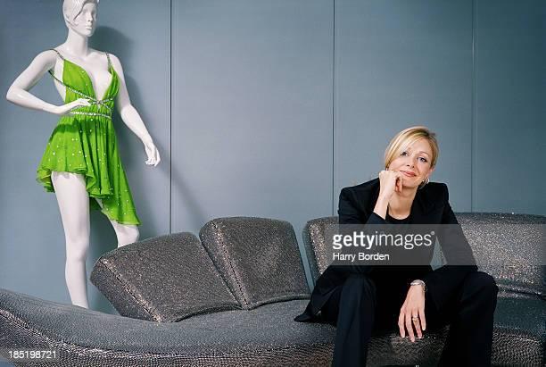 Owner of Swarovski Nadja Swarovski is photographed for Forward publishing on October 6 2004 in London England