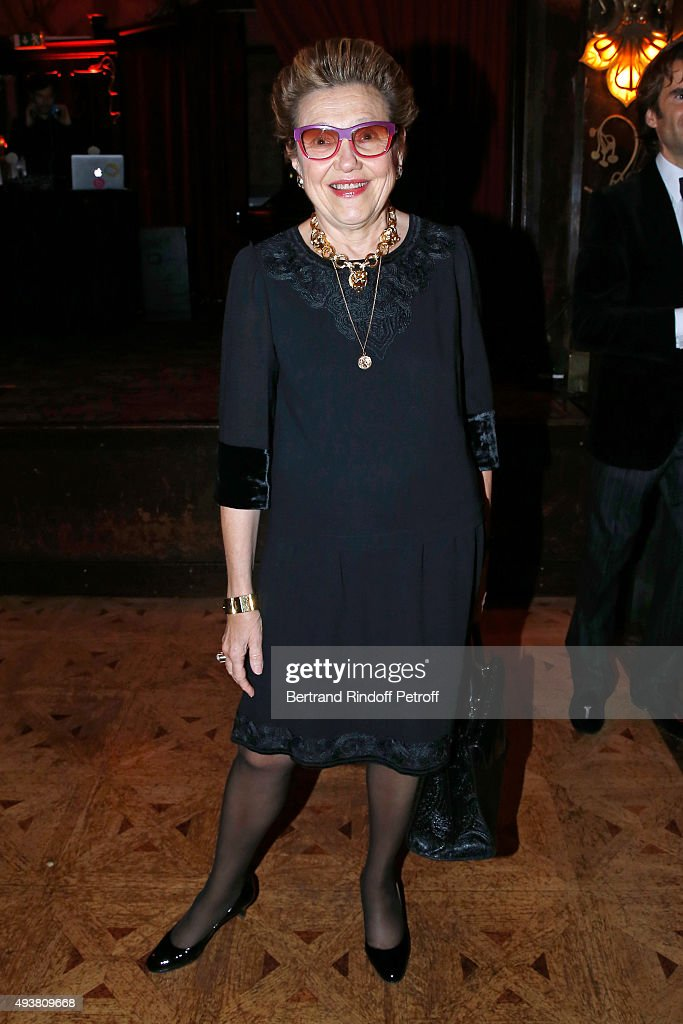 Owner of Tajan Rodica Seward attends the Dinner in honor of the Artist Adrian Ghenie organized by Thaddaeus Ropac at Maxim's on October 22, 2015 in Paris, France.