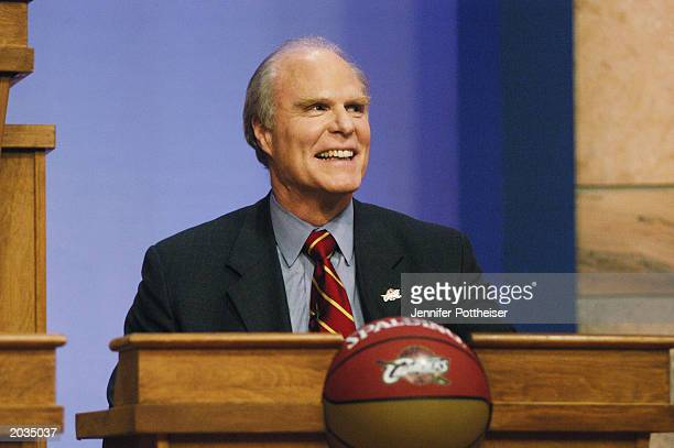 Owner of the Cleveland Cavaliers Gordon Gund of the Cleveland Cavaliers attends the 2003 NBA Draft Lottery on May 22 2003 in Secaucus New Jersey NOTE...