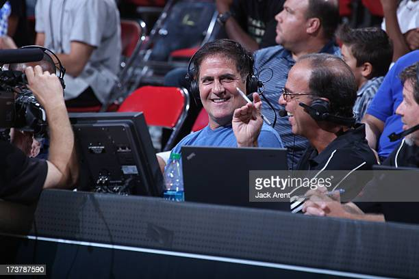 Owner of the Dallas Mavericks Mark Cuban is seen during NBA Summer League game between the Dallas Mavericks and the Los Angeles Clippers on July 17...