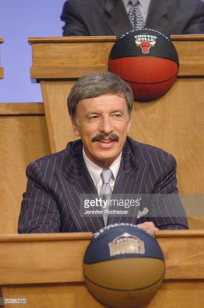 Owner of the Denver Nuggets Stan Kroenke attends the 2003 Draft Lottery on May 22 2003 in Secaucus New Jersey NOTE TO USER User expressly...