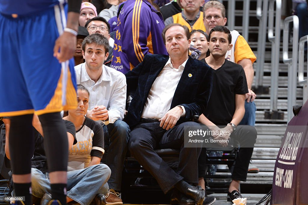 Owner of the Golden State Warriors, Joe Lacob attends the game against the Los Angeles Lakers on December 23, 2014 at Staples Center in Los Angeles, California.
