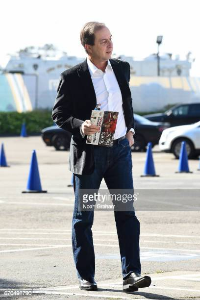 Owner of the Golden State Warriors Joseph S Lacob arrivals during Game Two of the Western Conference Quarterfinals between the Golden State Warriors...