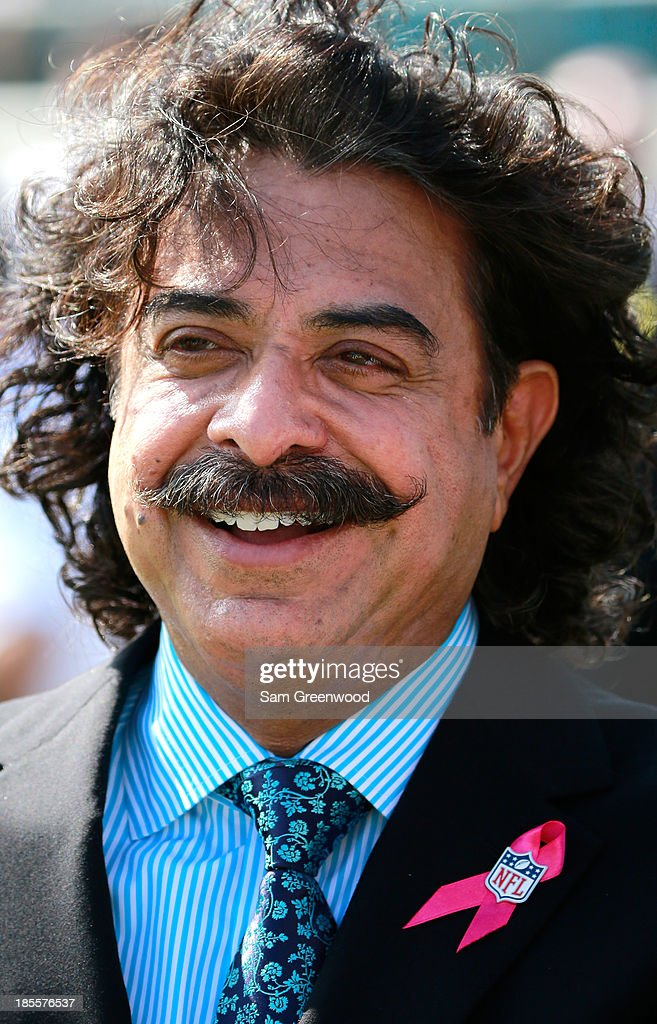 Owner of the Jacksonville Jaguars Shahid Khan smiles before the game between the Jacksonville Jaguars and the San Diego Chargers at EverBank Field on October 20, 2013 in Jacksonville, Florida.