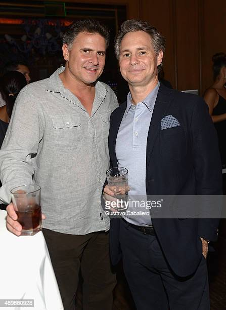 Owner of the Light Group Andrew Sasson and Founder and CEO DuJour Media Jason Binn attend DuJour Magazine's Jason Binn The Forge's Shareef Malnik...