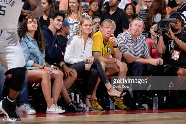 Owner of the Milwaukee Bucks Wes Edens is seen at the game between the Milwaukee Bucks and the Brooklyn Nets during the 2017 Las Vegas Summer League...