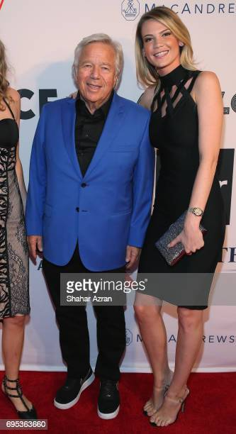 owner of the New England Patriots and Apollo Board member Robert Kraft and Courtney O'Connor attend the Apollo Spring Gala 2017 at The Apollo Theater...