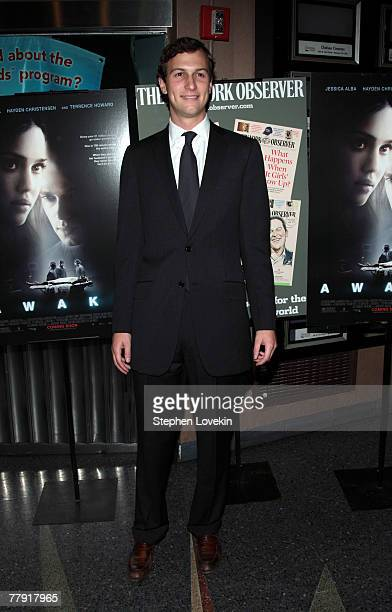 Owner of The New York Observer Jared Kushner attends the New York premiere of Awake presented by The New York Observer at the Chelsea West Cinema on...