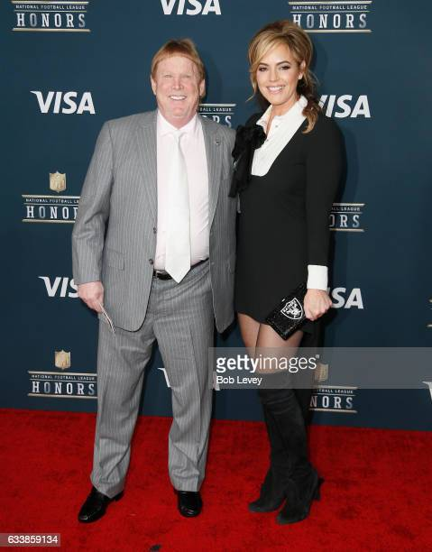 Owner of the Oakland Raiders Mark Davis and model Sandra Taylor attend 6th Annual NFL Honors at Wortham Theater Center on February 4 2017 in Houston...