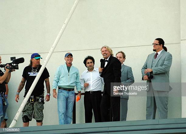 Owner of The Palms George Maloof founder of the Virgin Group Richard Branson and Magicians Penn Jillette and Teller of Penn Teller attend Richard...
