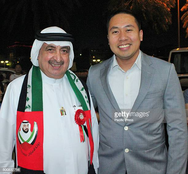 Owner of the Philippine Supermarket/ EIHG CEO Abunader with Philippine Consul Ryan Bondoc during the 44th UAE National Day celebration