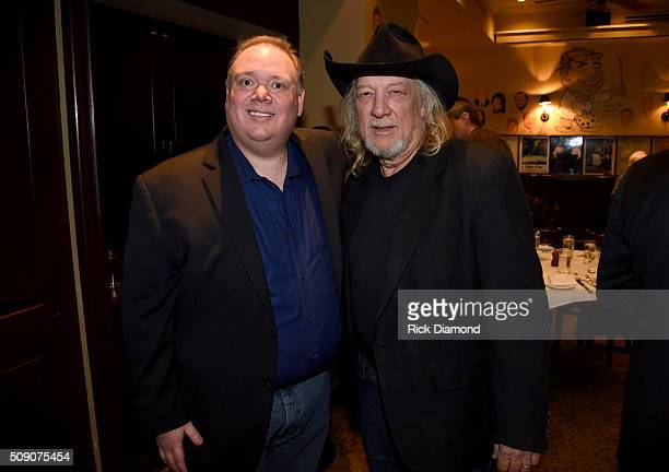 Owner of Webster PR Kirt Webster and John Anderson attend the 2nd Annual Legendary Lunch presented by Webster Public Relations and CMA at The Palm...