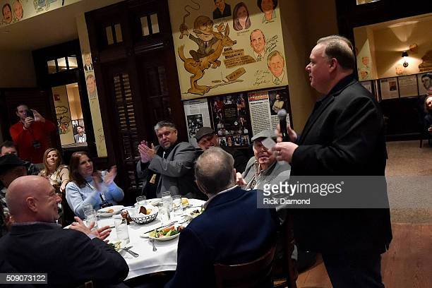 Owner of Webster Public Relations Kirt Webster speaks during the 2nd Annual Legendary Lunch presented by Webster Public Relations and CMA at The Palm...