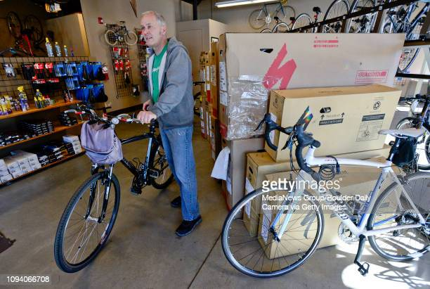 Owner Pete Schones is seen at Acme Bikes in Longmont on Thursday More photos TimesCallcom