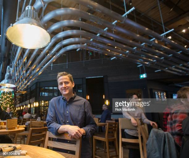 Owner PJ L'Heureux of the establishment The Craft Beer Market recently opened at 1 Adelaide Street East features 165 taps of beer wine and spirits...