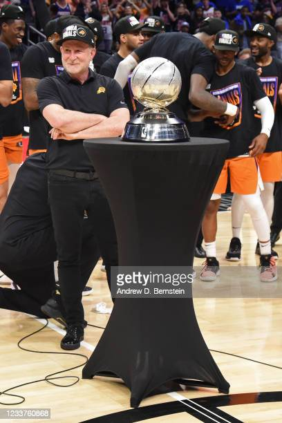 Owner, Robert Sarver looks on after the game against the LA Clippers during Game 6 of the Western Conference Finals of the 2021 NBA Playoffs on June...