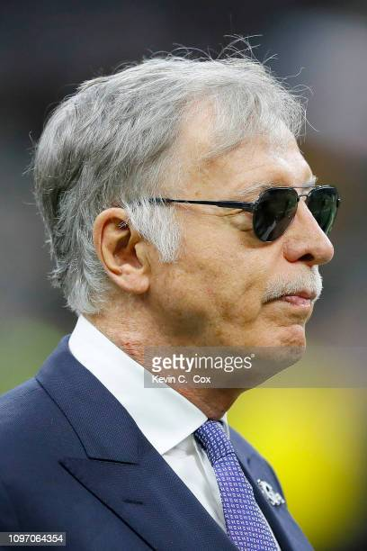 Owner Stan Kroenke of the Los Angeles Rams is seen before the NFC Championship game at the MercedesBenz Superdome on January 20 2019 in New Orleans...