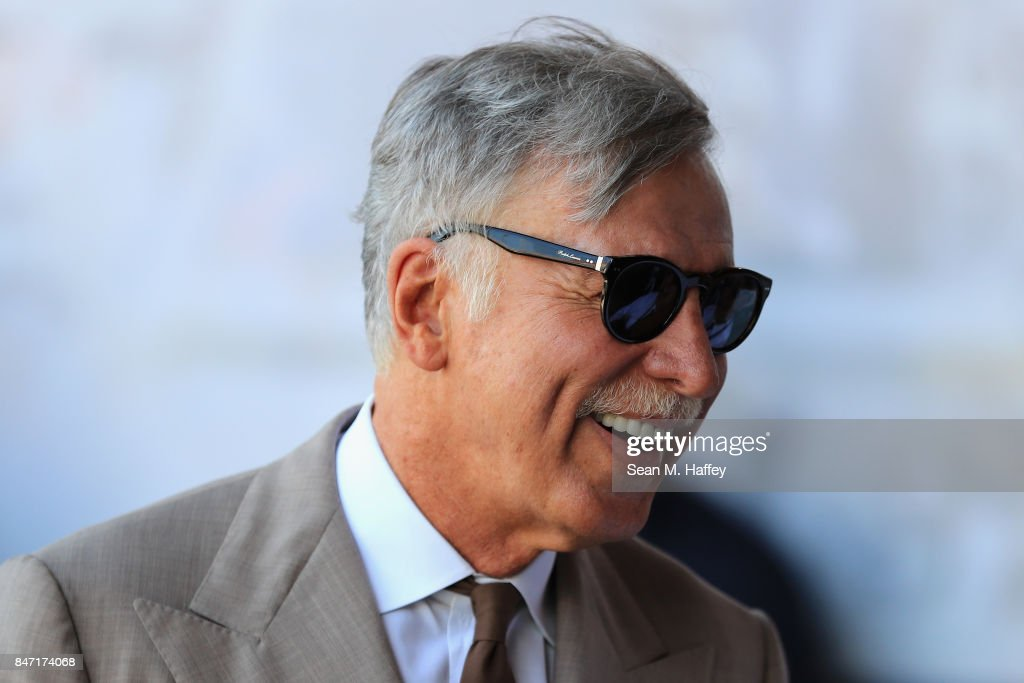 Owner Stan Kroenke of the Los Angeles Rams looks on prior to a game against the Indianapolis Colts at Los Angeles Memorial Coliseum on September 10, 2017 in Los Angeles, California.