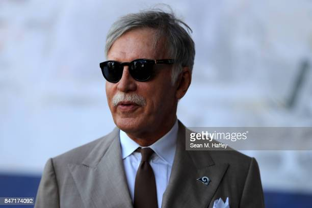 Owner Stan Kroenke of the Los Angeles Rams looks on prior to a game against the Indianapolis Colts at Los Angeles Memorial Coliseum on September 10...
