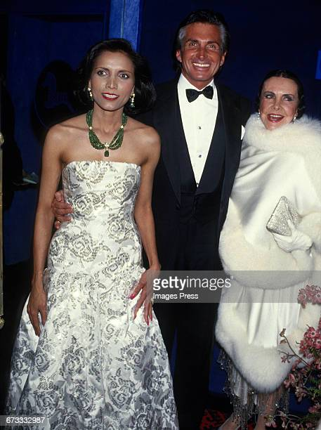 Owner Usha Singh George Hamilton with his mother Ann Stevens attend the Grand Opening of newly refurbished Club El Morocco circa 1987 in New York City