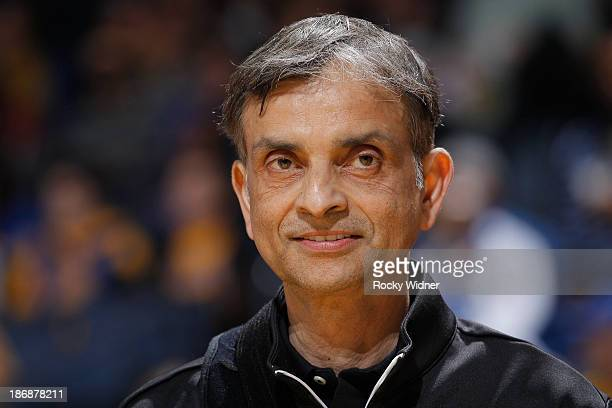 Owner Vivek Ranadive of the Sacramento Kings prior to the game between the Sacramento Kings and Golden State Warriors on November 2 2013 at Oracle...