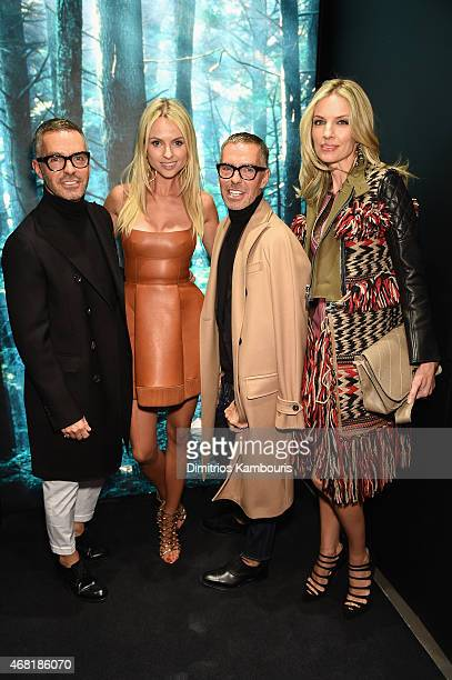 Owners and Creative Directors of DSQUARED2 Dan Caten and Dean Caten and Inga Kozel Svetlana Acquista attend the DSQUARED2 celebration of New York...