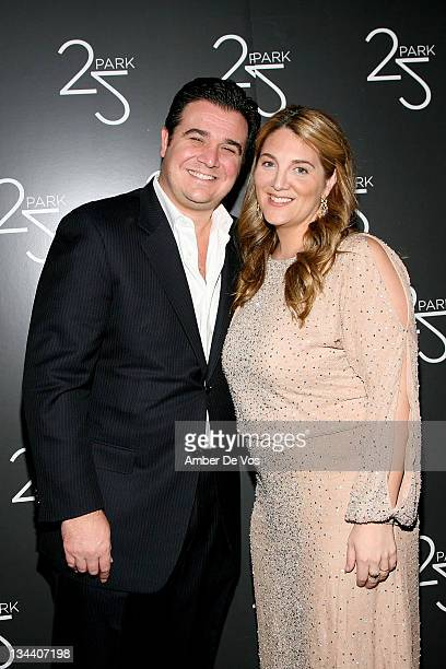 Owners Andy Brettschneider and Alison Brettschneider attend the grand opening of the 25 Park flagship store on December 16 2010 in New York City